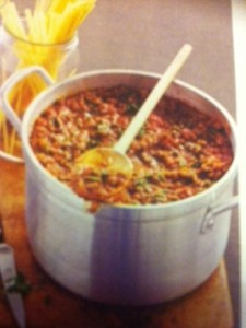 Stock Pot of Bolognaise Sauce