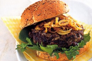 Mushroom and Lentil Burger for Vegetarians