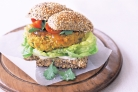 Curried Vegetable Burgers Vegetarian