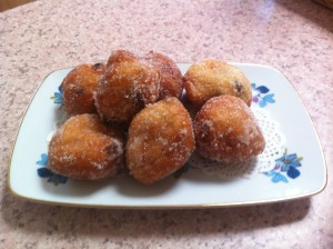 Fried Donuts coated in sugar