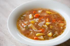 A Bowl of Vegetable Soup