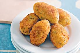 Potato and Herb Croquettes on a plate