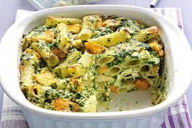 A Delicious Pumpkin and Spinach Pasta Bake