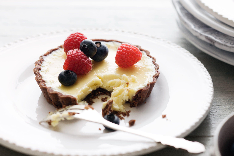 White Chocolate Truffle Tarts for Dessert
